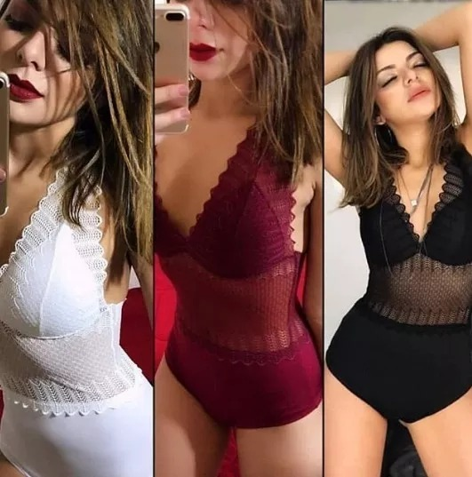 2143e7796 Body De Renda Alta Feminino Modelo 2018 - R  45