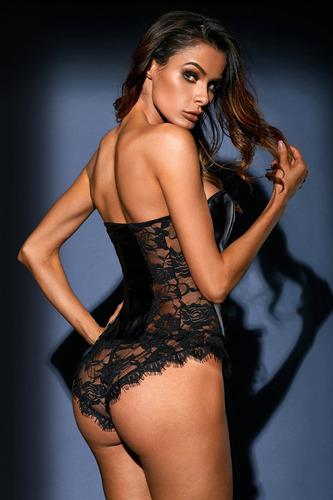 body de vinil sexy negro mujer elegante