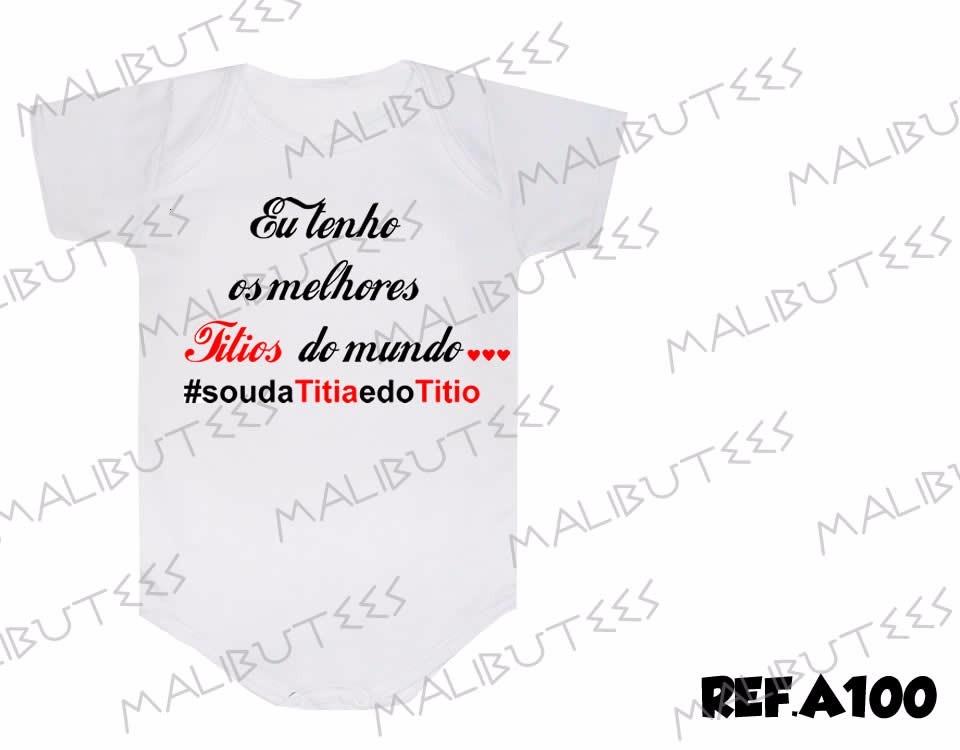 Body Dinda Tia Bebê Mamãe Frases Titia E Titio Ama R 2999