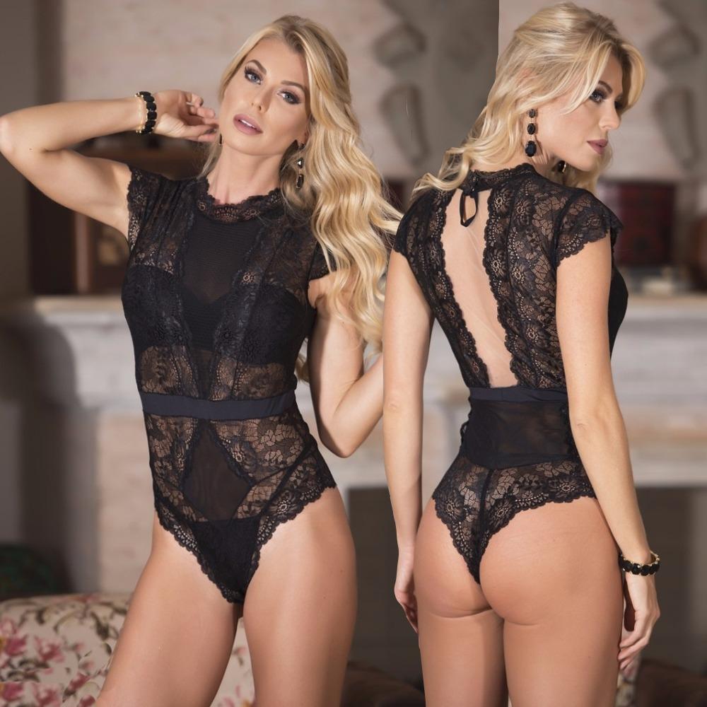 482de969f76e9 body em renda transparente com bojo lingerie luxuosa ps. Carregando zoom.