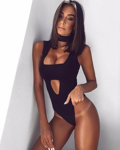 body fashion sexy escote mujer bodycon bandage jumpsuit