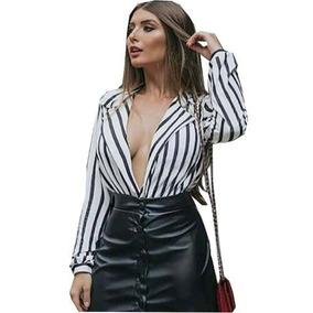 35c644f06 Body Transparente Listras - Camisetas e Blusas com o Melhores Preços no  Mercado Livre Brasil