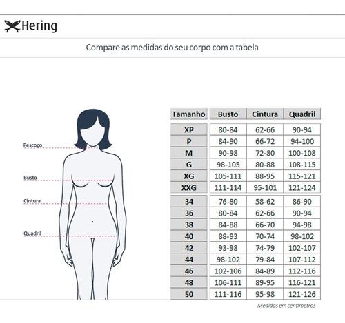 body feminino em malha com elastano estampada hering