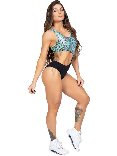 body feminino estampado cancún com abertura lateral 1052