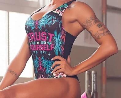 d80d2b7a5f97 Body Feminino Estampado Fitness Sem Bojo! Envio Imediato! - R$ 99,90 ...