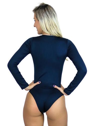 body feminino manga longa blusa