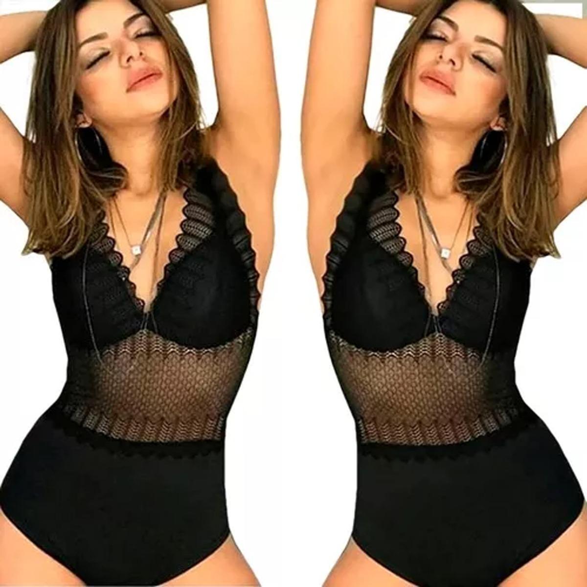 065efe9ed body feminino renda modelo instagran. Carregando zoom.