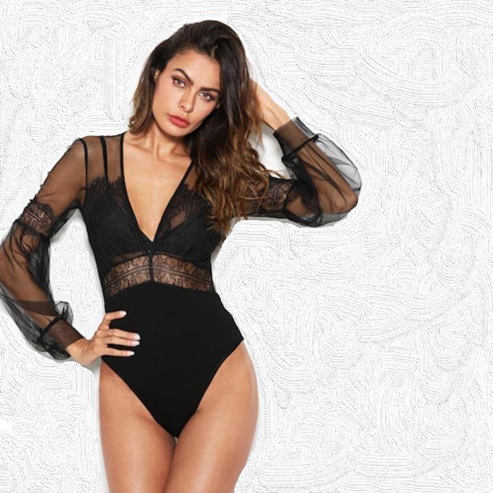 7ea3cf926 Body Feminino Renda/tule Instagram/blogueira Super Oferta! - R$ 123 ...