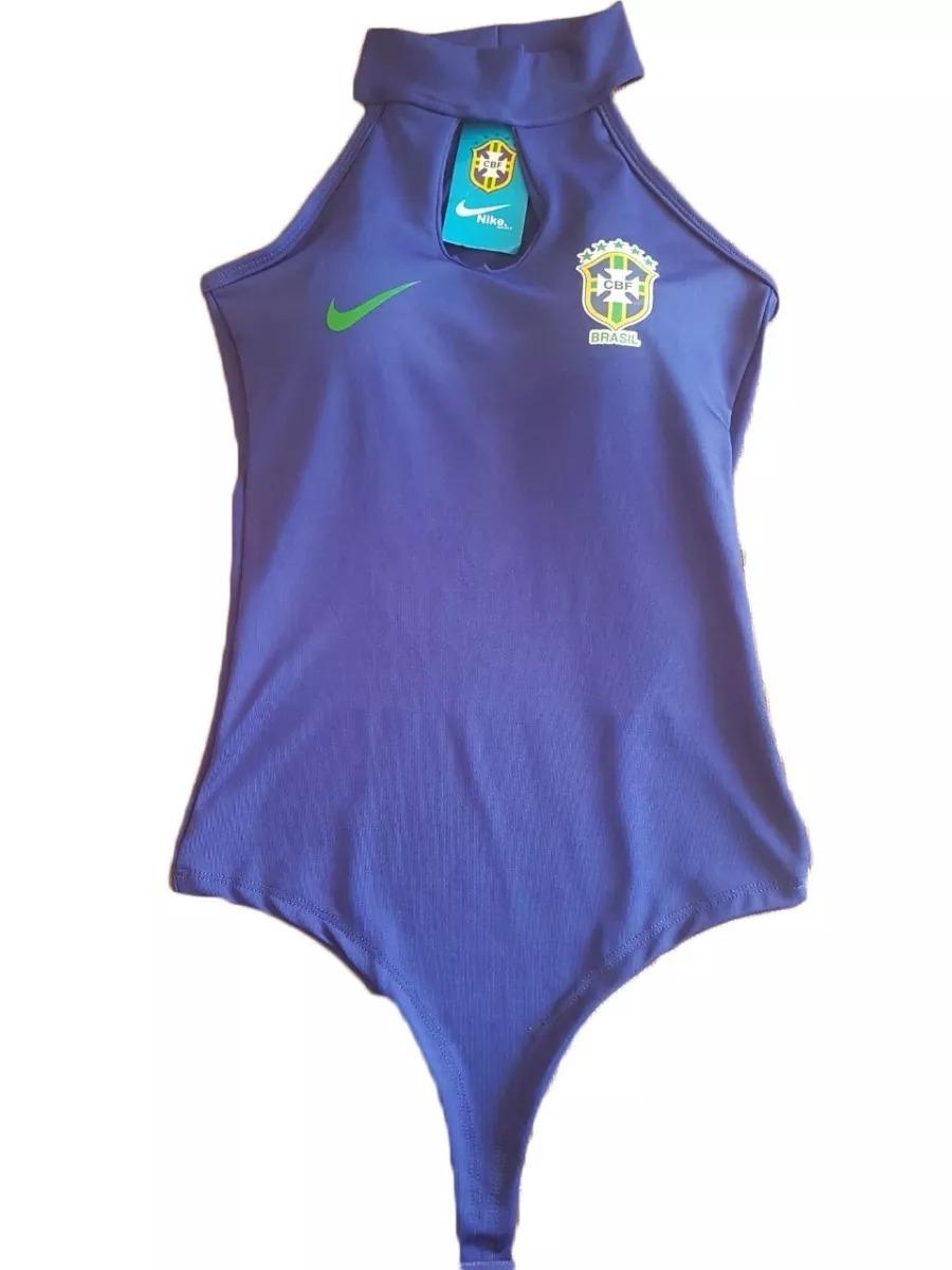 3250451254 body feminino seleção - brasil copa do mundo azul lindo. Carregando zoom.