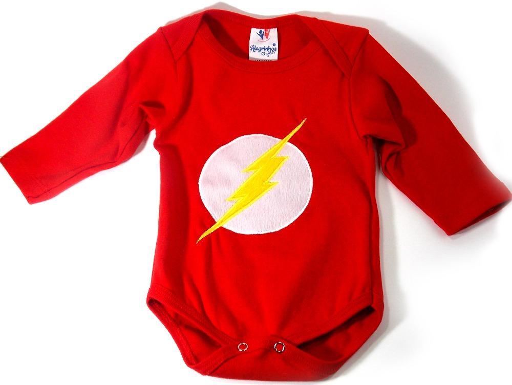 body flash roupa de bebê masculino menino + brinde. Carregando zoom. 98307c4394f