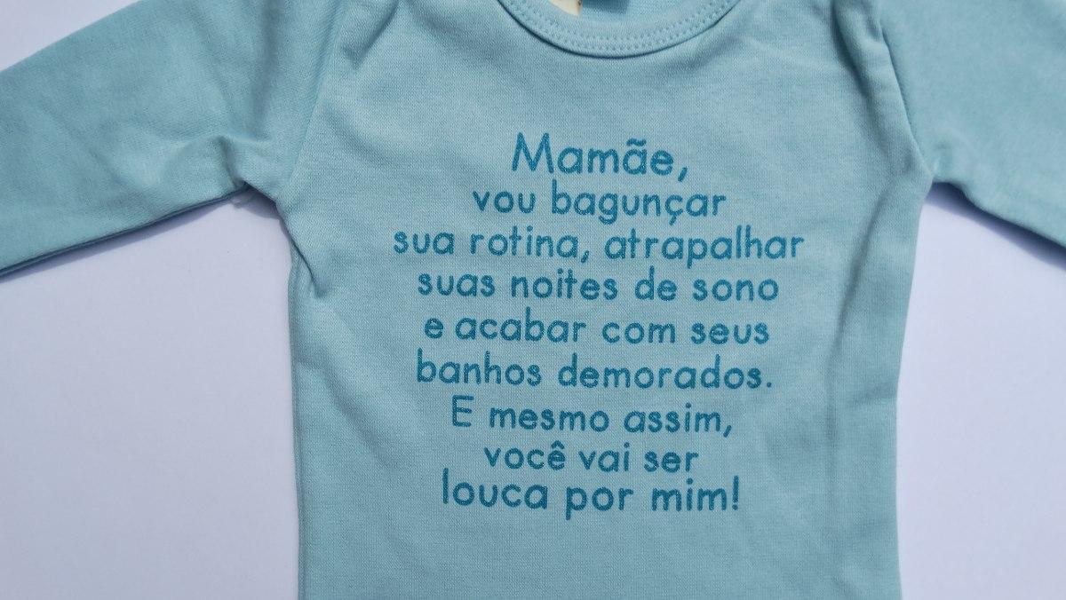 Body Frases Roupas De Bebe Enxoval Recem Nascido Infantl