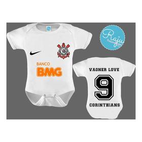 Body Futebol Infantil Bebê Camisa Corinthians 2019 Bmg Nova