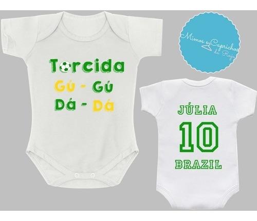 body futebol torcida gugu dada brasil copa 2018 - roupa bebê