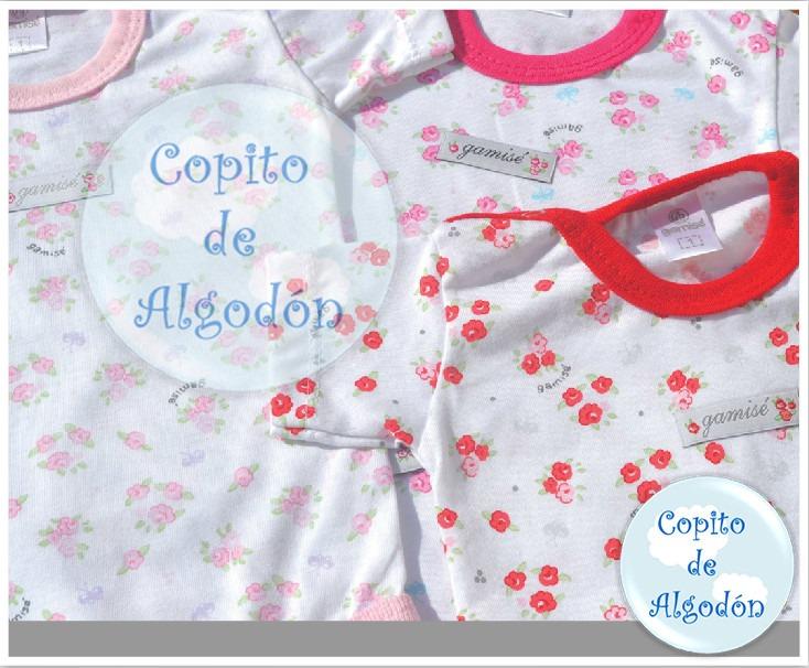 ropa de bebe gamise en flores