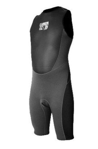 body glove fusion mens short john wetsuit (negro, pequeño)