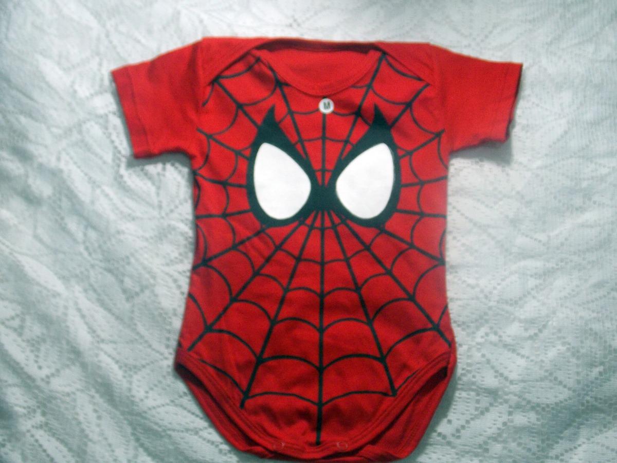 Body Homem Aranha Roupa De Bebê Masculino Menino - R  16 bbd23ec394d
