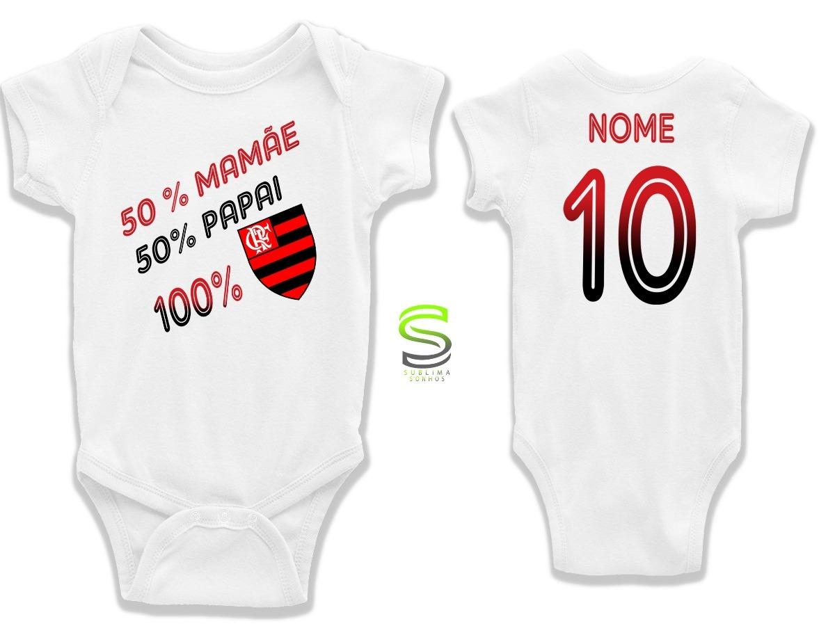 da2682fca8 body infantil 100% flamengo personalizado bebê. Carregando zoom.