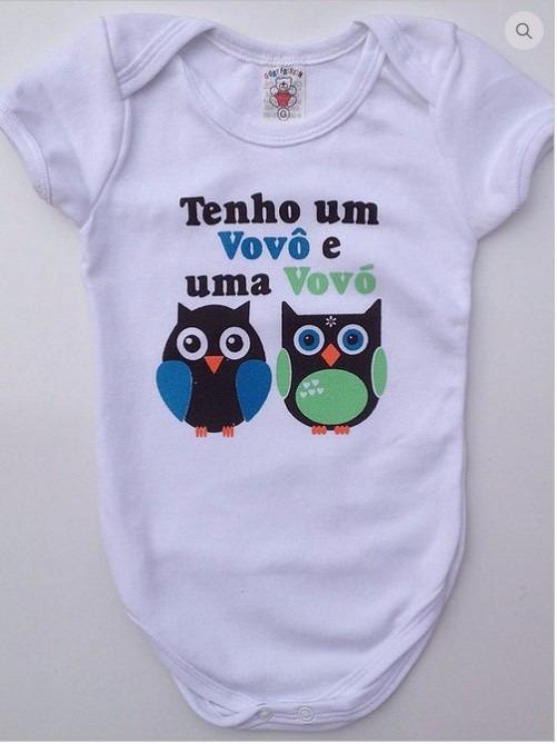 Body Infantil Bebê Atacado Estampa Vovô Vovó Menino menina - R  23 ... ecfb1a6676b