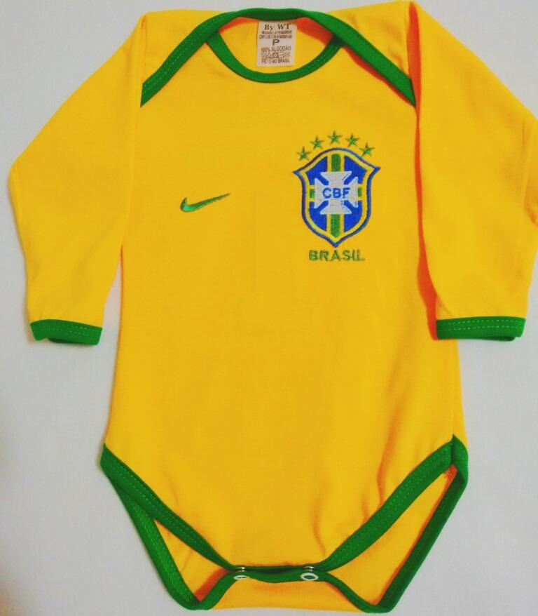 96b9eca994 body infantil bebê copa seleção brasileira nome bordado. Carregando zoom.