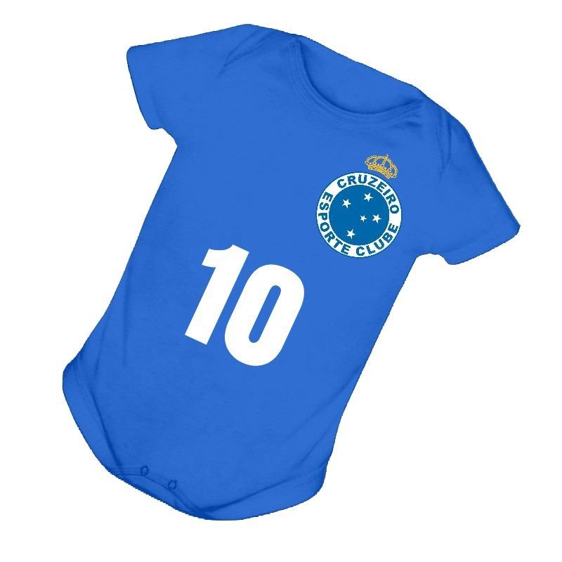 6025ea6c5e Body Infantil Bebê Cruzeiro Esporte Clube Raposa B035ar - R  32