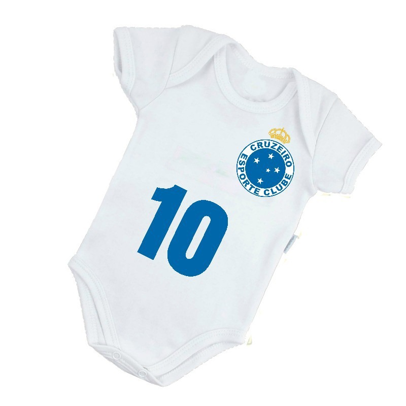 body infantil bebê frete grátis cruzeiro clube raposa b035br. Carregando  zoom. 8436eb4c970