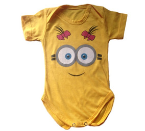 67b9ef3eb Body Minions Infantil - Bodies de Bebê no Mercado Livre Brasil