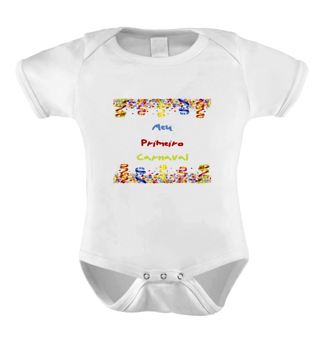 Body Infantil Bebê Personalizado Frases Divertido Carnaval