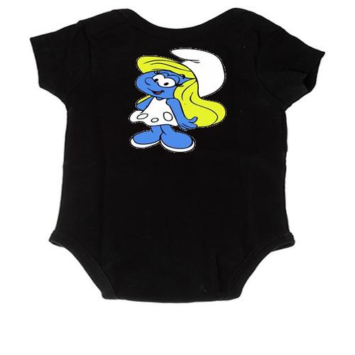 body infantil desenho  smurf