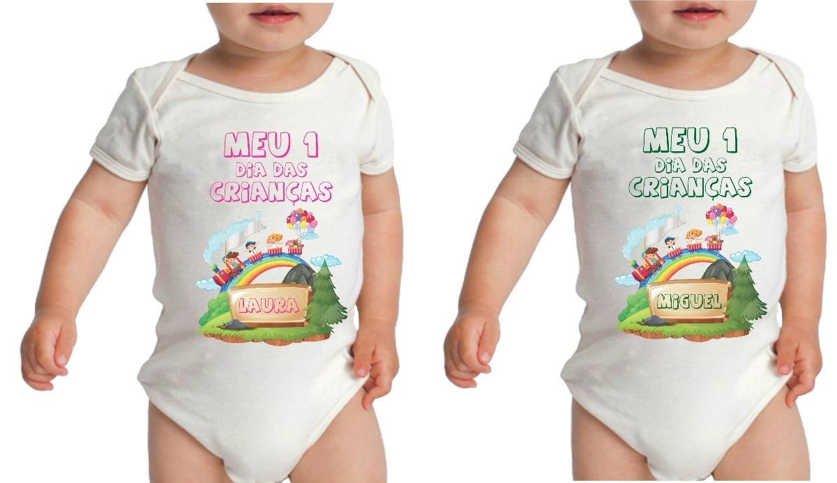 body infantil dia das crianças menino menina com nome. Carregando zoom. f7a8503bb25