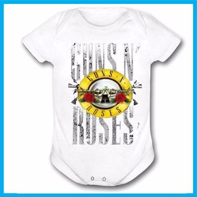 body infantil guns n' roses, rock, banda, bebe, criança, mús