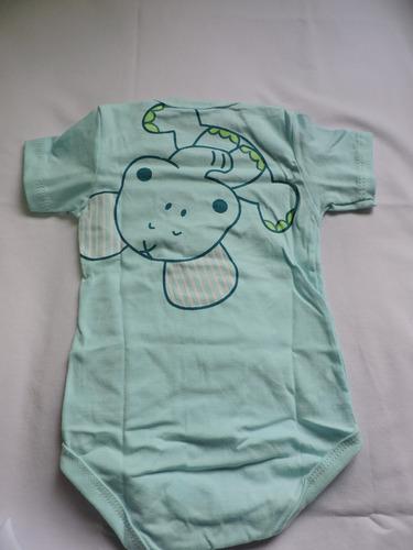 body infantil masculino elefantinho manga curta