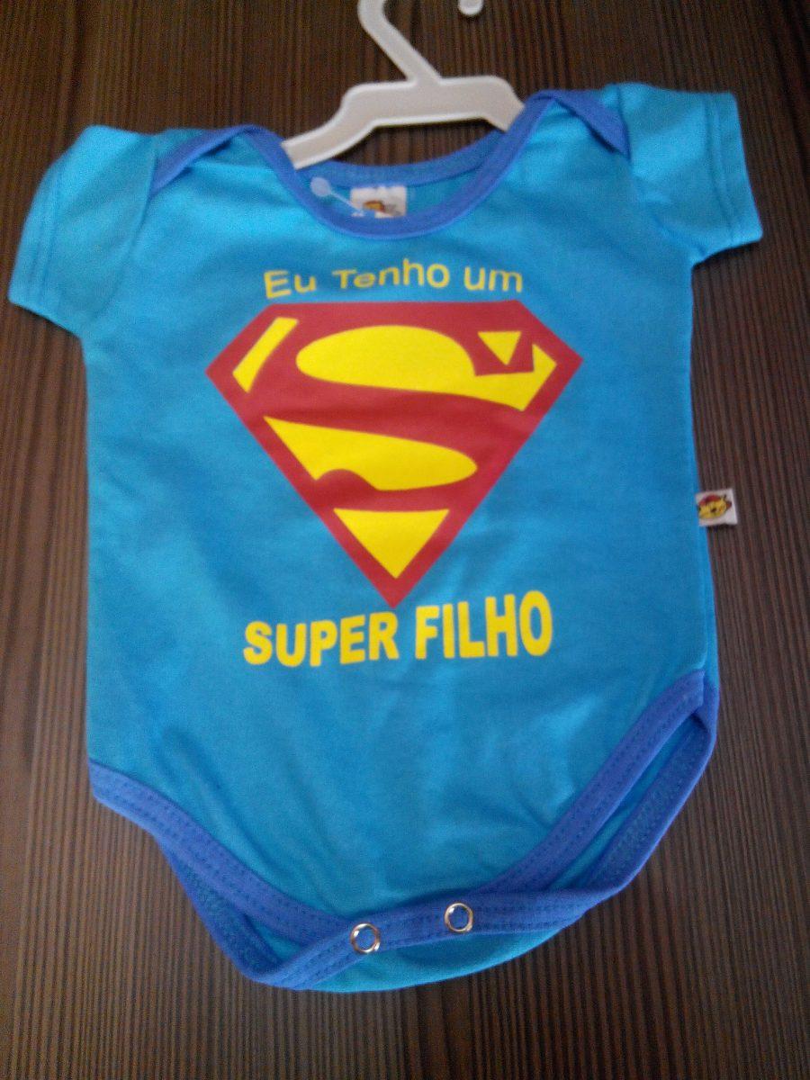 b60f9ed01669 body infantil, masculino, super filho, cor azul, tamanho p. Carregando zoom.