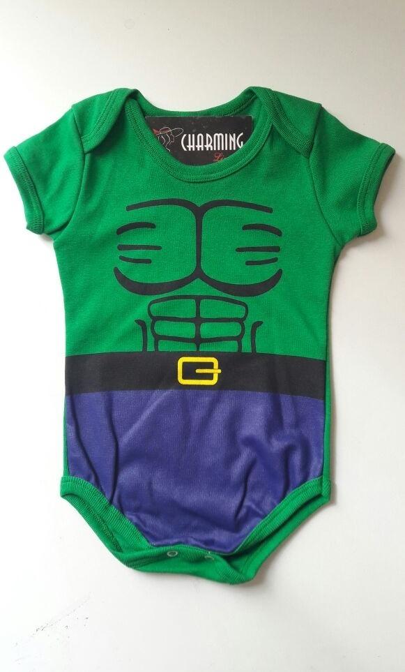 body infantil menino e menina kit 5 peças bebê hulk. Carregando zoom. 2cbee67afbe