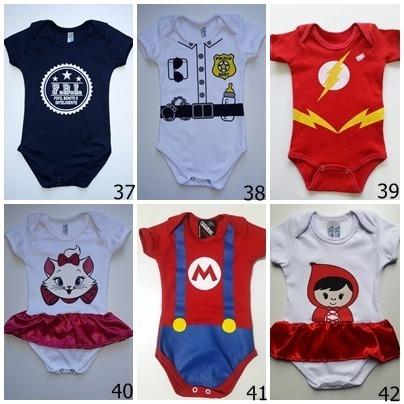 Body Infantil Menino E Menina Kit Com 5 Peças Criança Bebê - R  114 ... 7aac06c81a9
