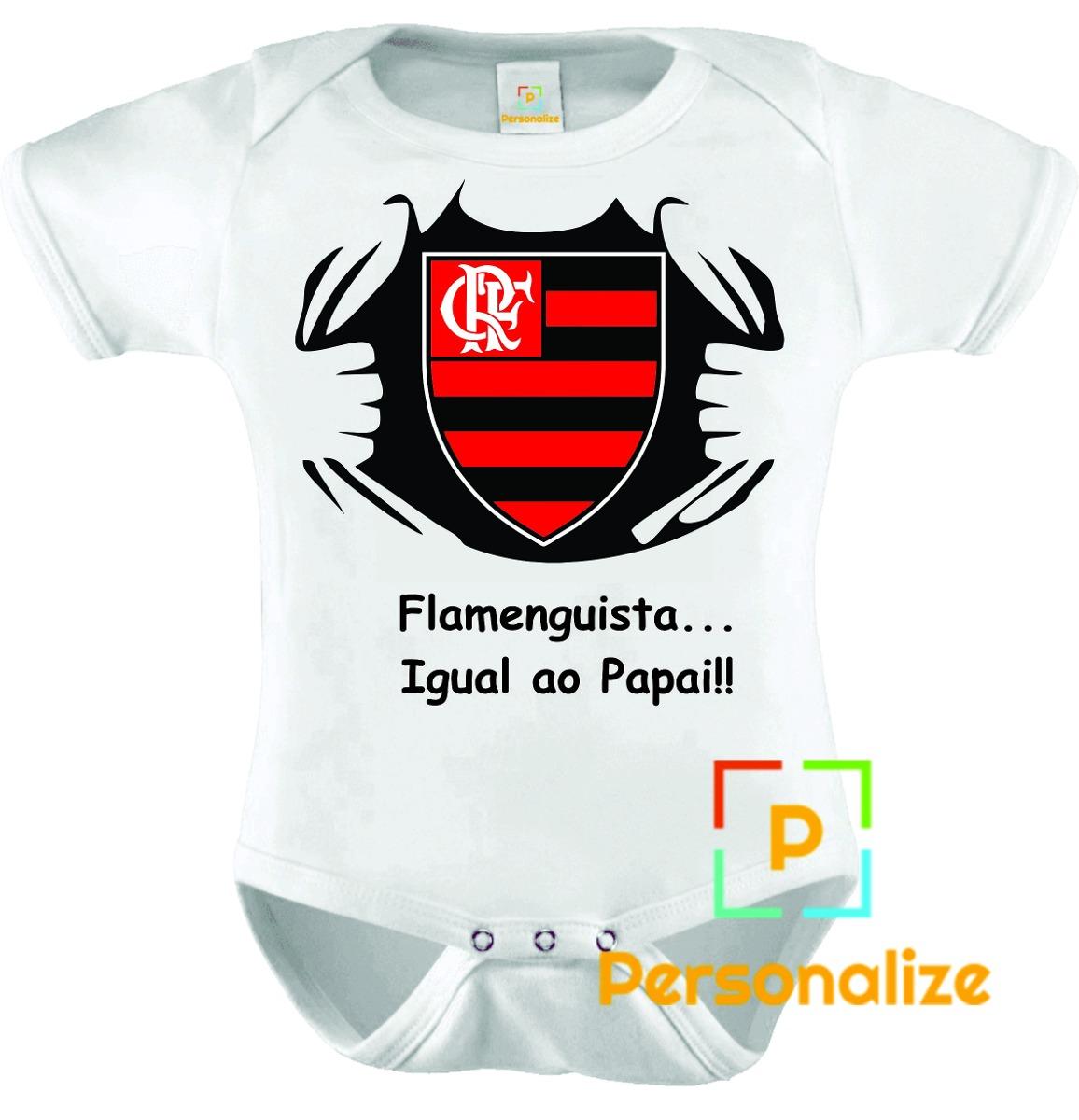 39607583ea body infantil personalizado camisa do flamengo! Carregando zoom.