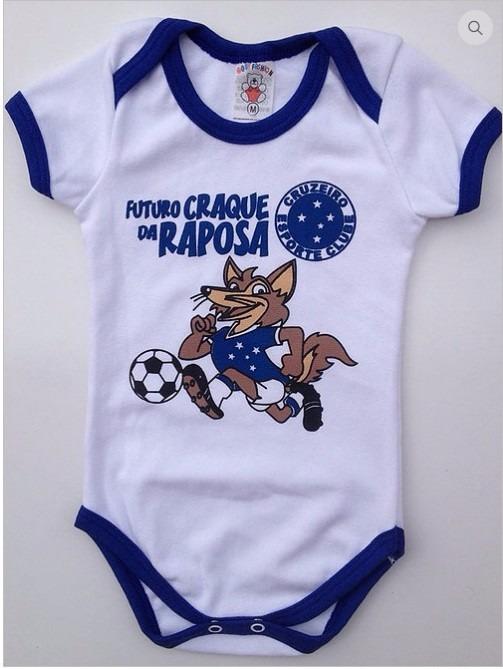 1813a56ffa Body Infantil Personalizado Time Bebê Cruzeiro Futebol - R  25