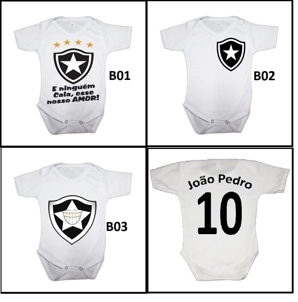 body infantil personalizado time futebol botafogo c  nome. Carregando zoom. 8726f58b455a7