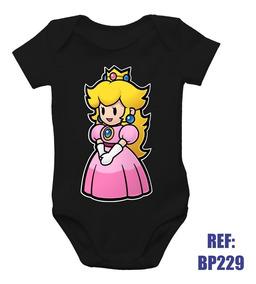 ce5ad85cf896 Princesa Peach Fantasia - Bodies Curta de Bebê no Mercado Livre Brasil