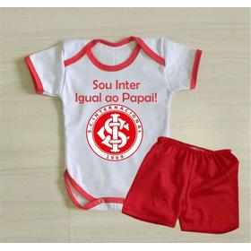 Body Inter Igual Ao Papai Conjuntinho Bebê Conjunto Colorado