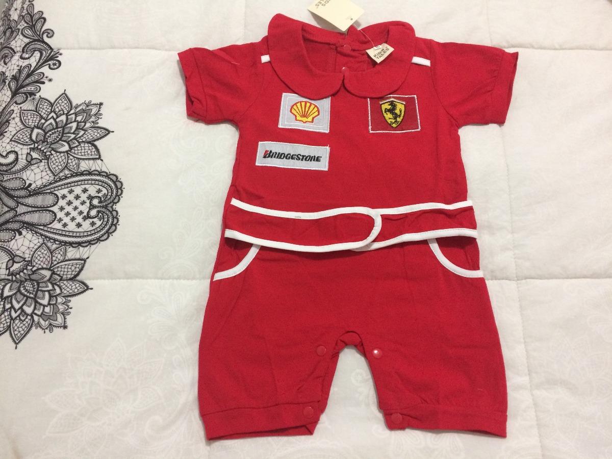 1fe0d367f3 body macacão bebê fantasia piloto fórmula 1 menino importado. Carregando  zoom.