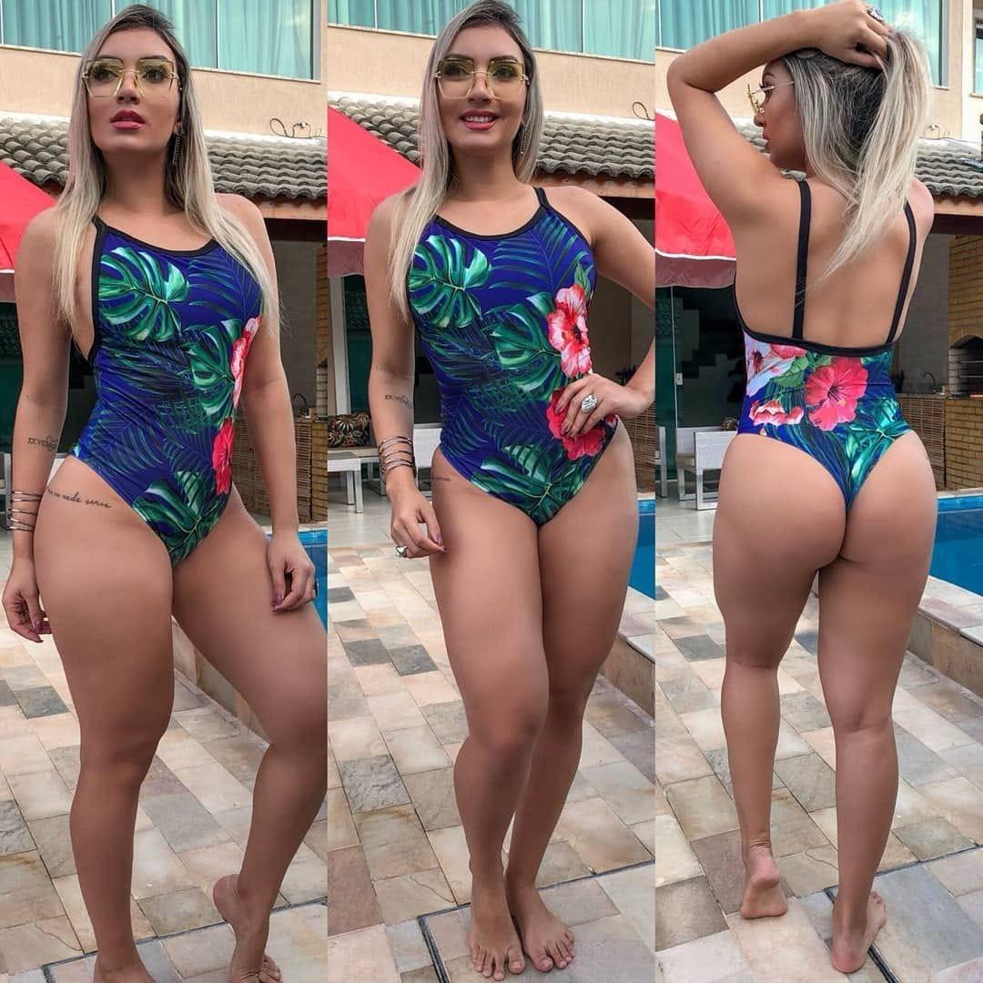 3e68626eb Body Maiô Feminino Sem Bojo Maiô Cavado Para Praia Ref 625b - R$ 39 ...