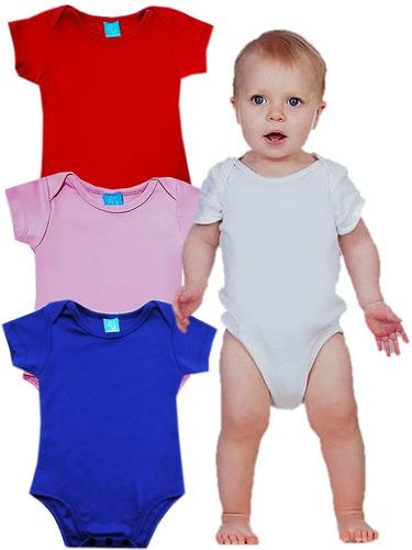 body mameluco bebes unicolor en algodón manga corta bodies