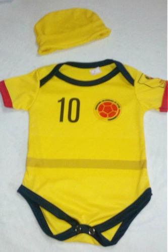 body mameluco seleccion colombia amarillo
