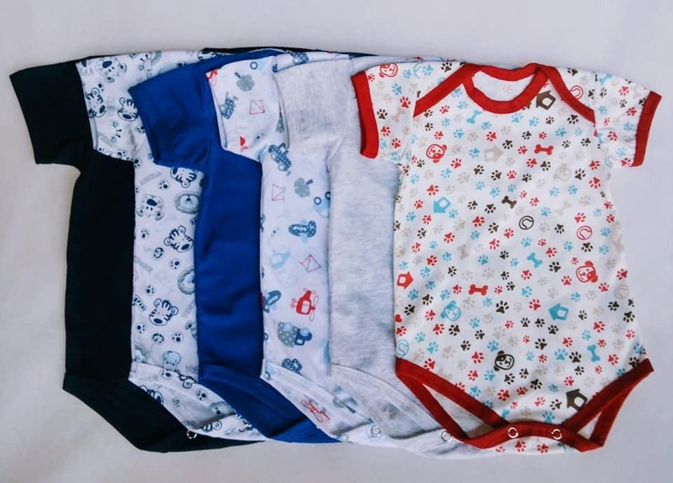 bbd6ac27d body manga curta  menino   kit 10 peças  colorido  estampas . Carregando  zoom.