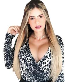 18e0d39f8996 Body Claudia Leite Oncinha, Com Bojo, Decotado Nas Costas - Calçados,  Roupas e Bolsas com o Melhores Preços no Mercado Livre Brasil