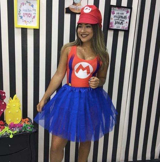 Body Mario Bros Luigi Carnaval 2018 Fantasia Verão - R  27 18afed746e4
