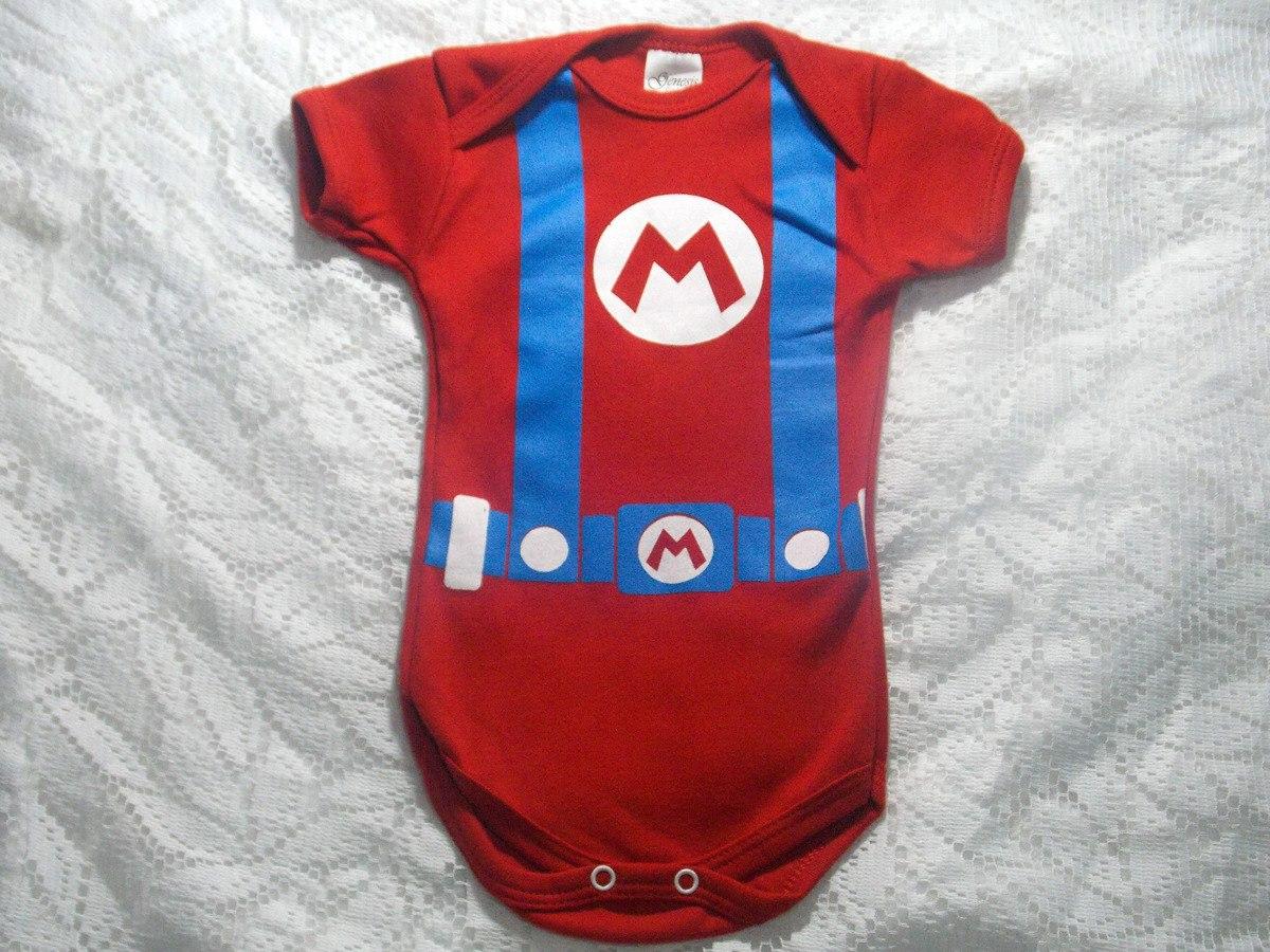 body mario roupa de bebê super herói menino masculino. Carregando zoom. d2fbb0c37f2