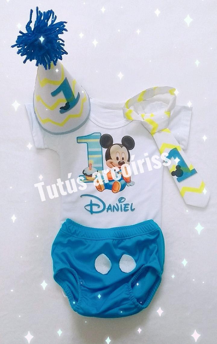 Body Mickey Mouse Primer Cumpleanos Para Bebe 55 000 En Mercado