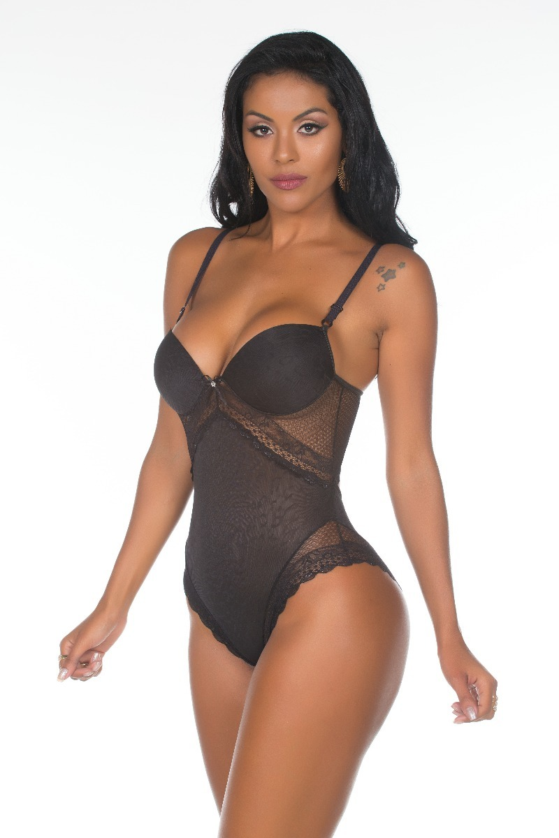 0a15b7f34 body modelador em renda lingerie fio dental bory sensual 50. Carregando  zoom.
