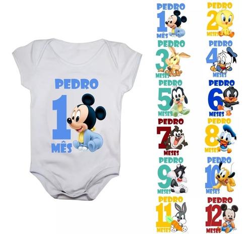 body mês aniversário tunes baby kit mesversario meses menino